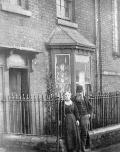 This was the home of Mr and Mrs Owen c1900. He was a builder and an undertaker. Next door is the 'Methodist Free Church'