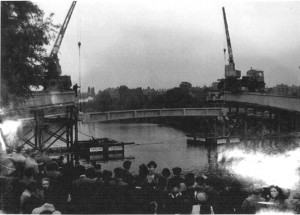 Blue Bridge under construction, 1951