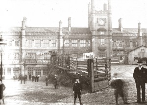 Railway station c.1901 half way through forecourt excavation
