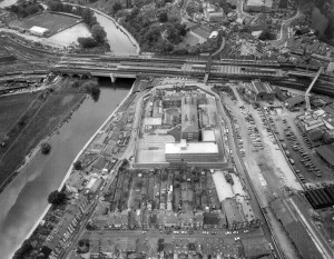 An aerial view of the Prison taken some time in the 1980s – note the relatively extensive recreational facilities