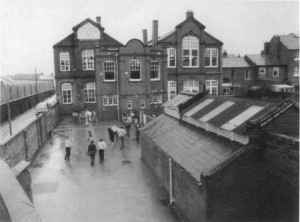 The Lancasterian School just before it closed in 1988