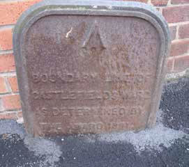 Cast iron boundary marker
