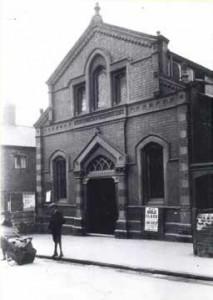The original Methodist Chapel at the top of New Park Road