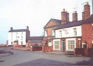 The New Inn and the Post Office with the Canal Tavern to the left
