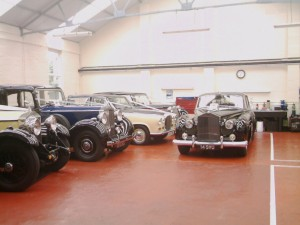 Some of Painter's limousine fleet